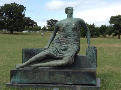 One of many Henry Moore's bronze sculptures